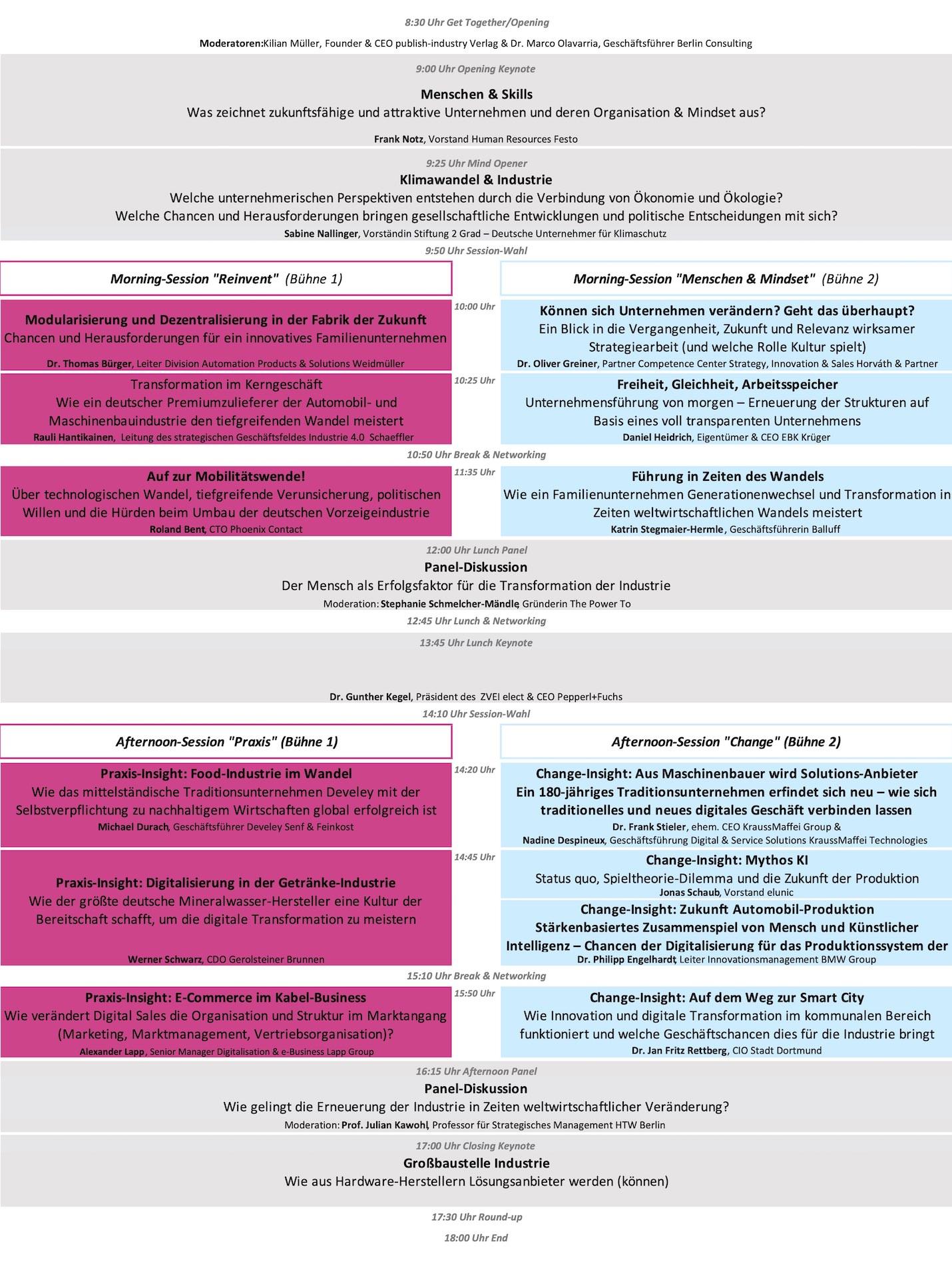 Vollständige Agenda – Download