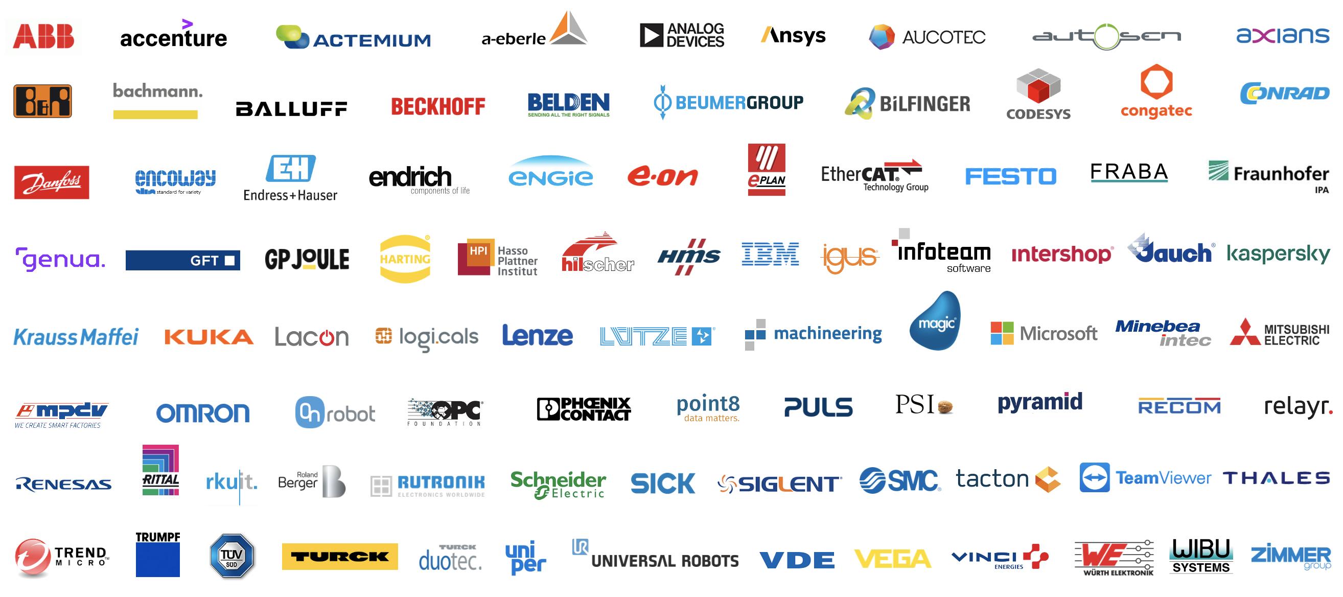 Teilnehmende Unternehmen INDUSTRY.forward EXPO