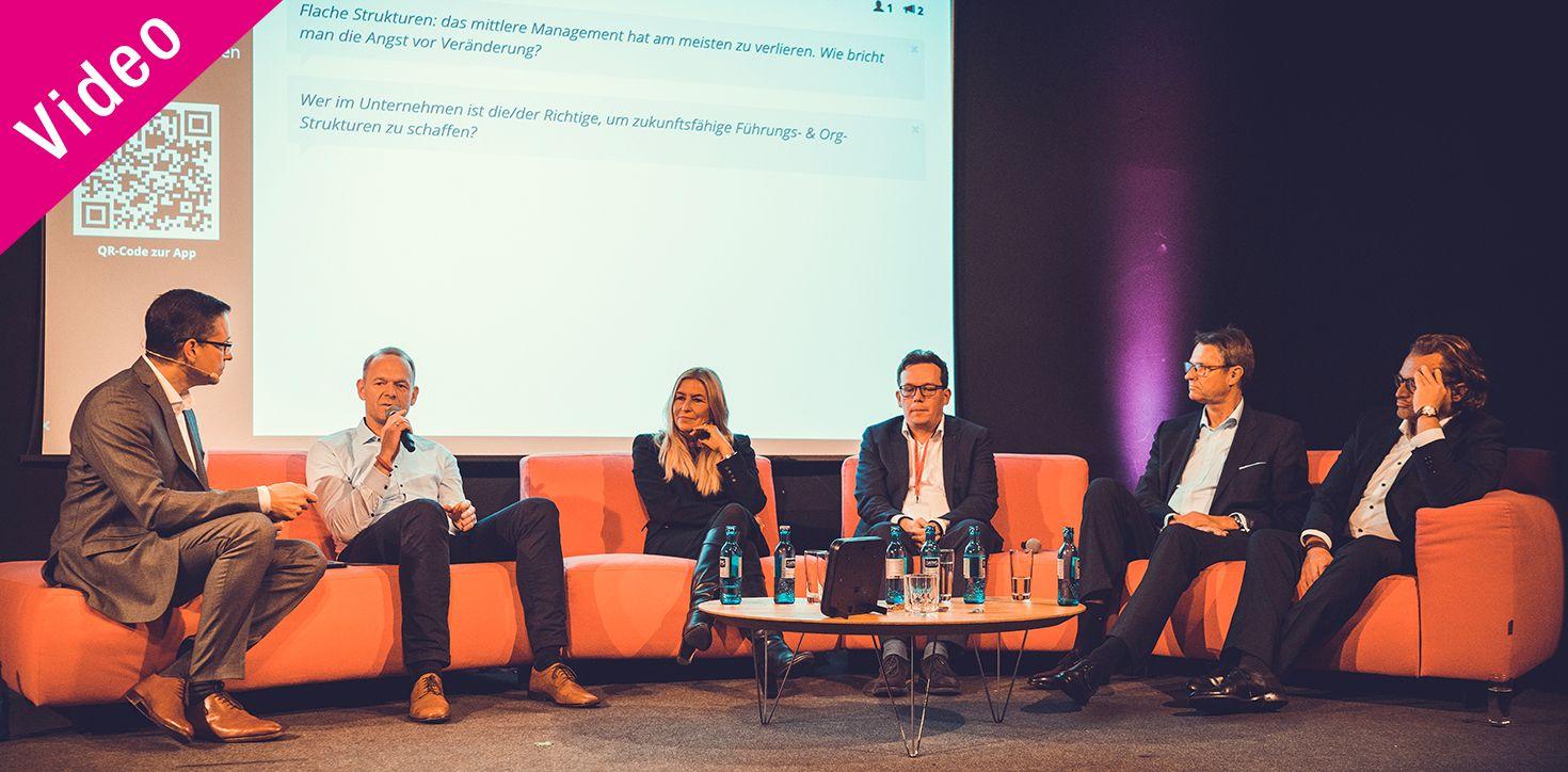 """Abschluss-Panel-Diskussion: """"Führung 4.0 – wie gestaltet man zukunftsfähige Führungs- und Organisationsstrukturen?"""""""